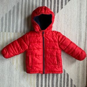 [oshkosh] red puffer jacket 3T